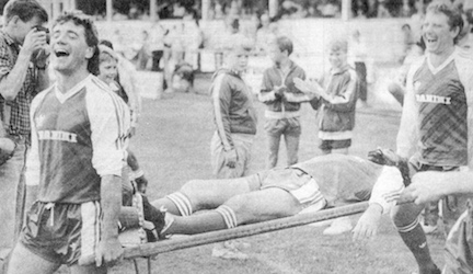 Keegan Ball carry Best on a stretcher Tony Gregory