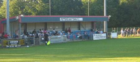 Main stand Potters Bar Town