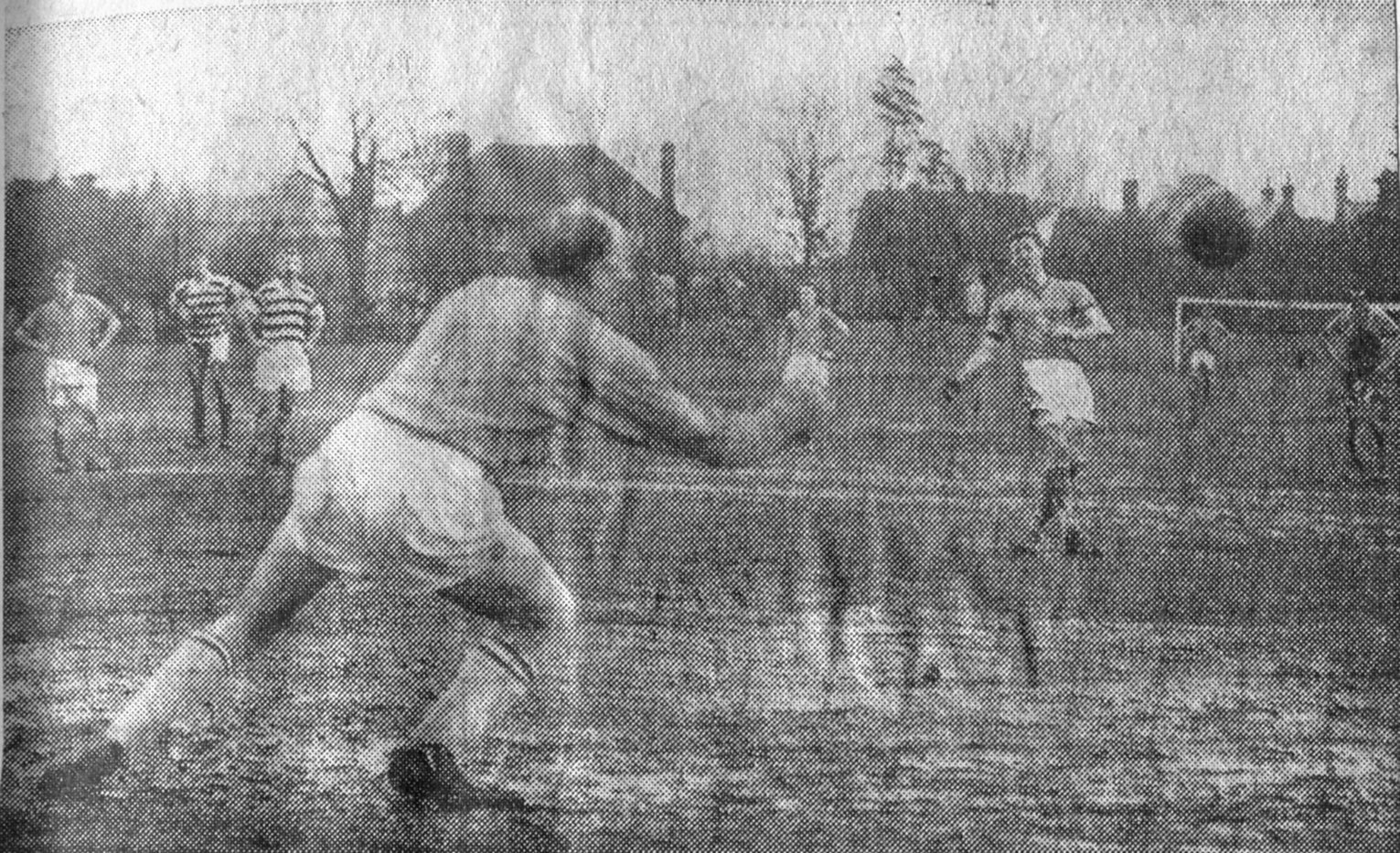 Maurice Walby Scores penalty against Oxford City 25 02 1961