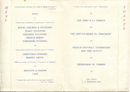 1948 49 Haute Marne Menu 2 small