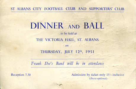 1950 51 Dinner Ball Victoria Hall small