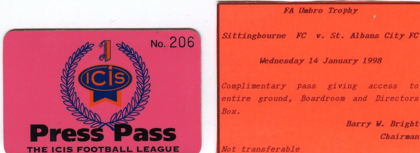 1997 98 Press Pass Sittingbourne small